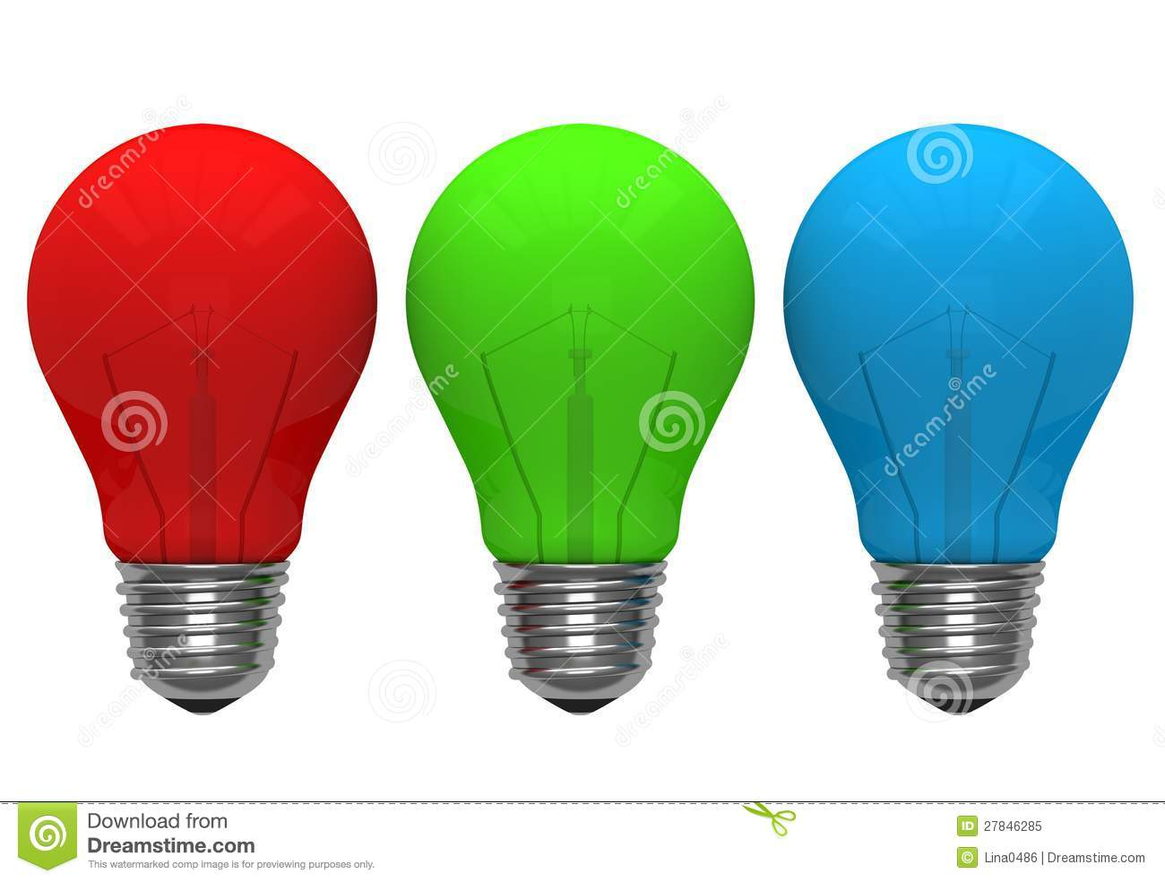 Red green blue color light bulb royalty free stock photo for Light green blue color