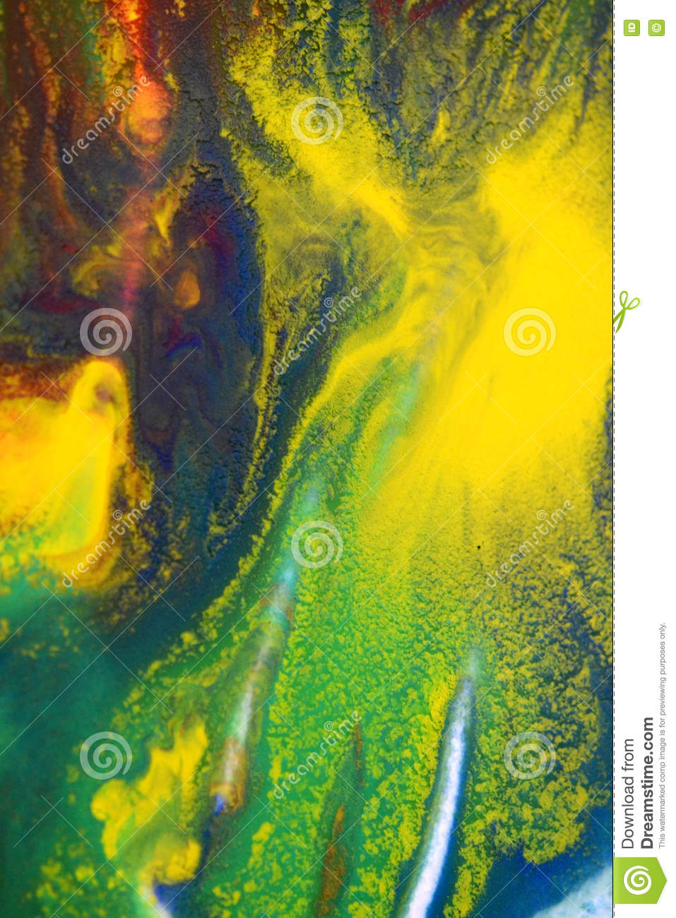 Red, Green, Blue, Yellow Colors Mixed Fluid Macro Stock Photo ...