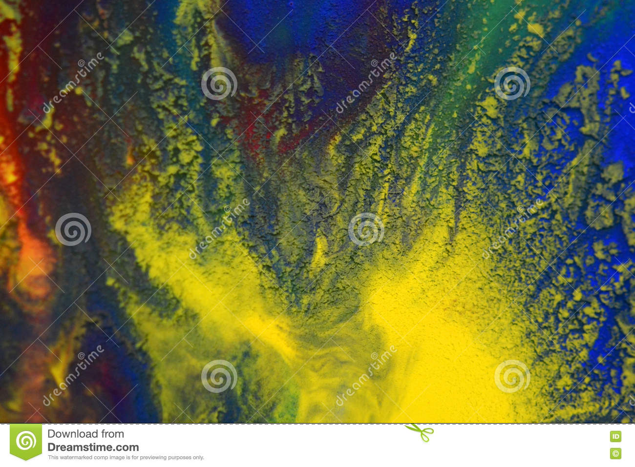 Red, Green, Blue, Yellow Colors Mixed Fluid Macro Stock Image ...