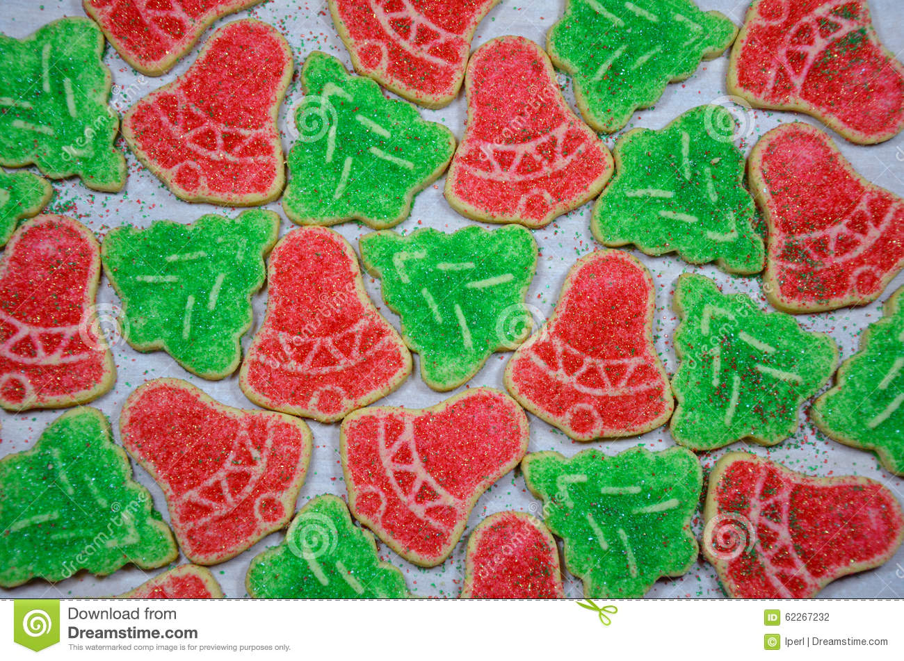 Red And Green Christmas Cookies Stock Photo Image Of Sweet Green