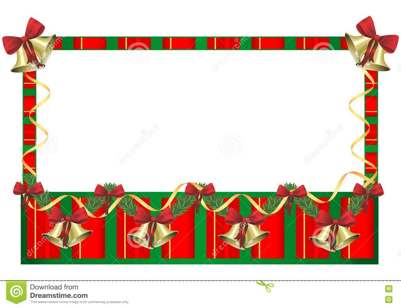 Red and Green Christmas Frames