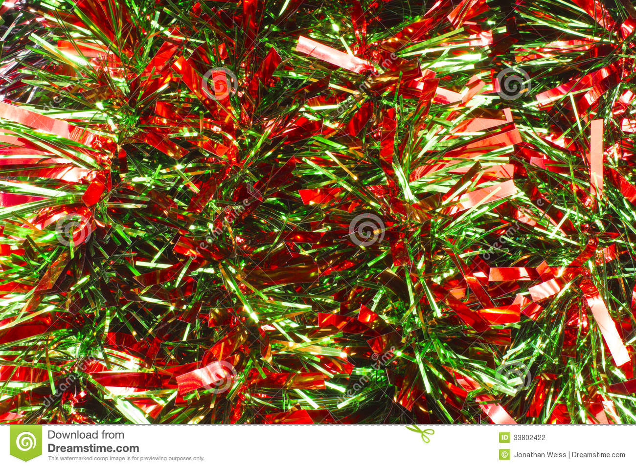 Red and green christmas garland stock photo image