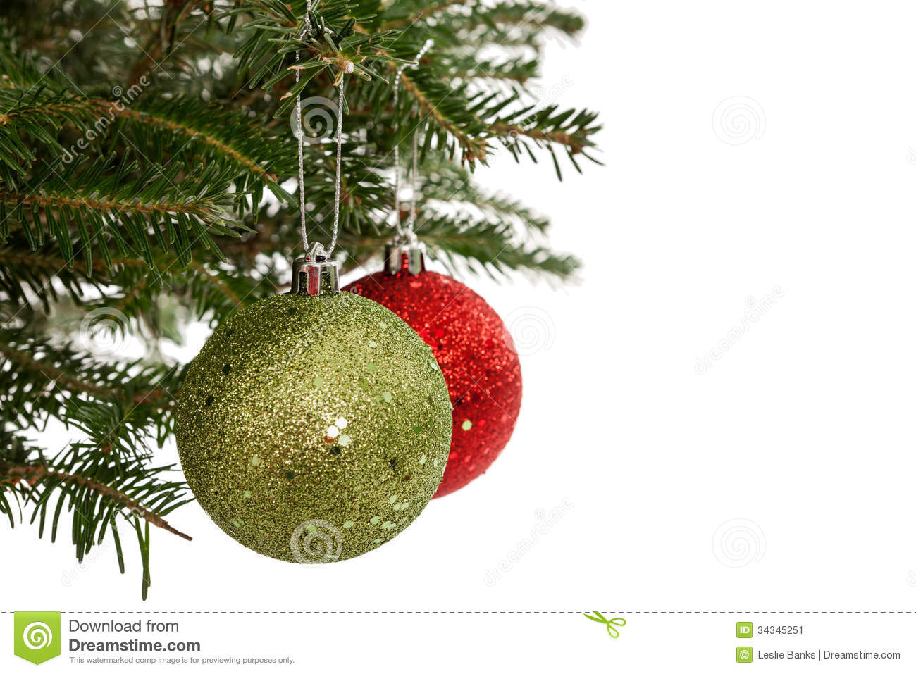 Red and green christmas ornaments stock image image for Red and green christmas decorations