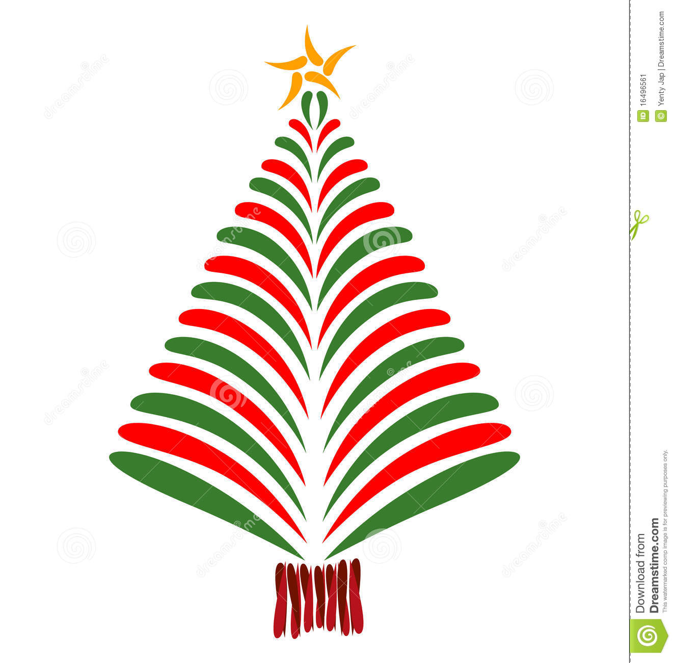 Red green christmas tree stock image image 16496561 for Red and green christmas tree