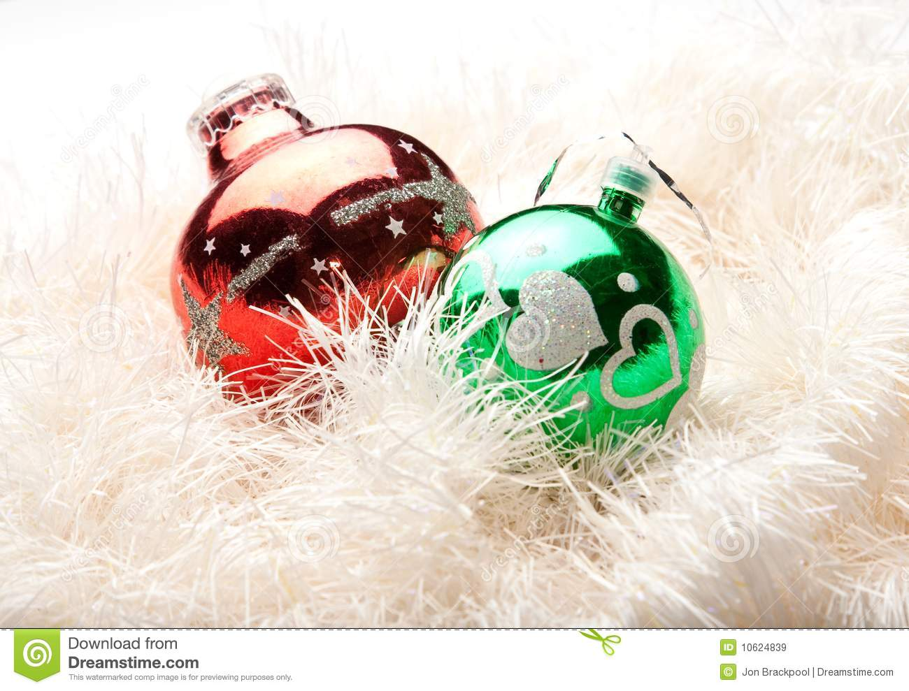 Red and green christmas tree decorations royalty free for Red and green christmas decorations