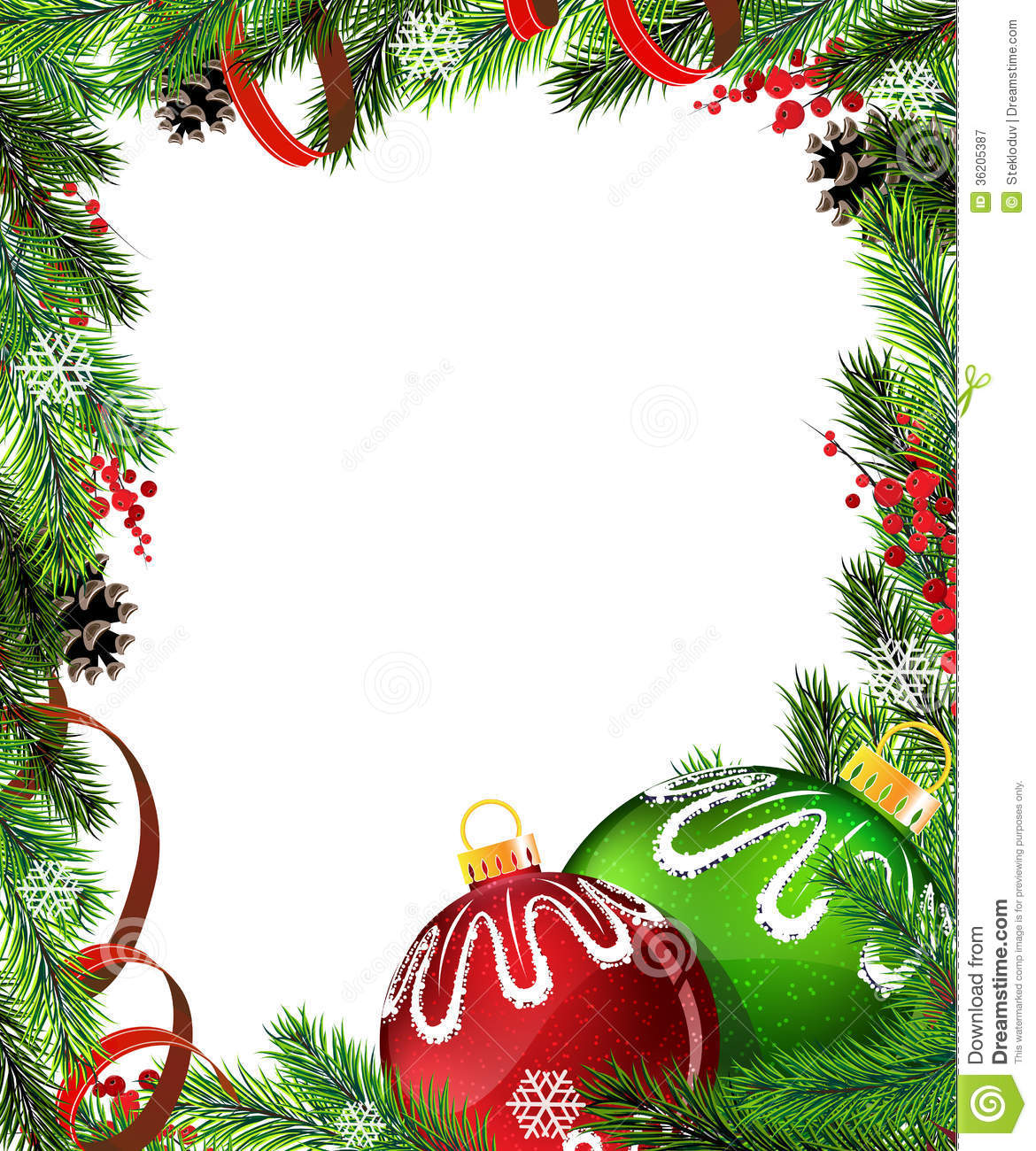 white christmas tree with red and green decorations