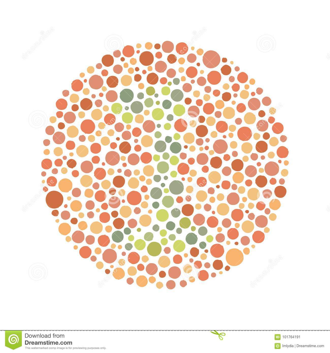 Red Green Color Blind Test stock vector. Illustration of illusion -  101764191
