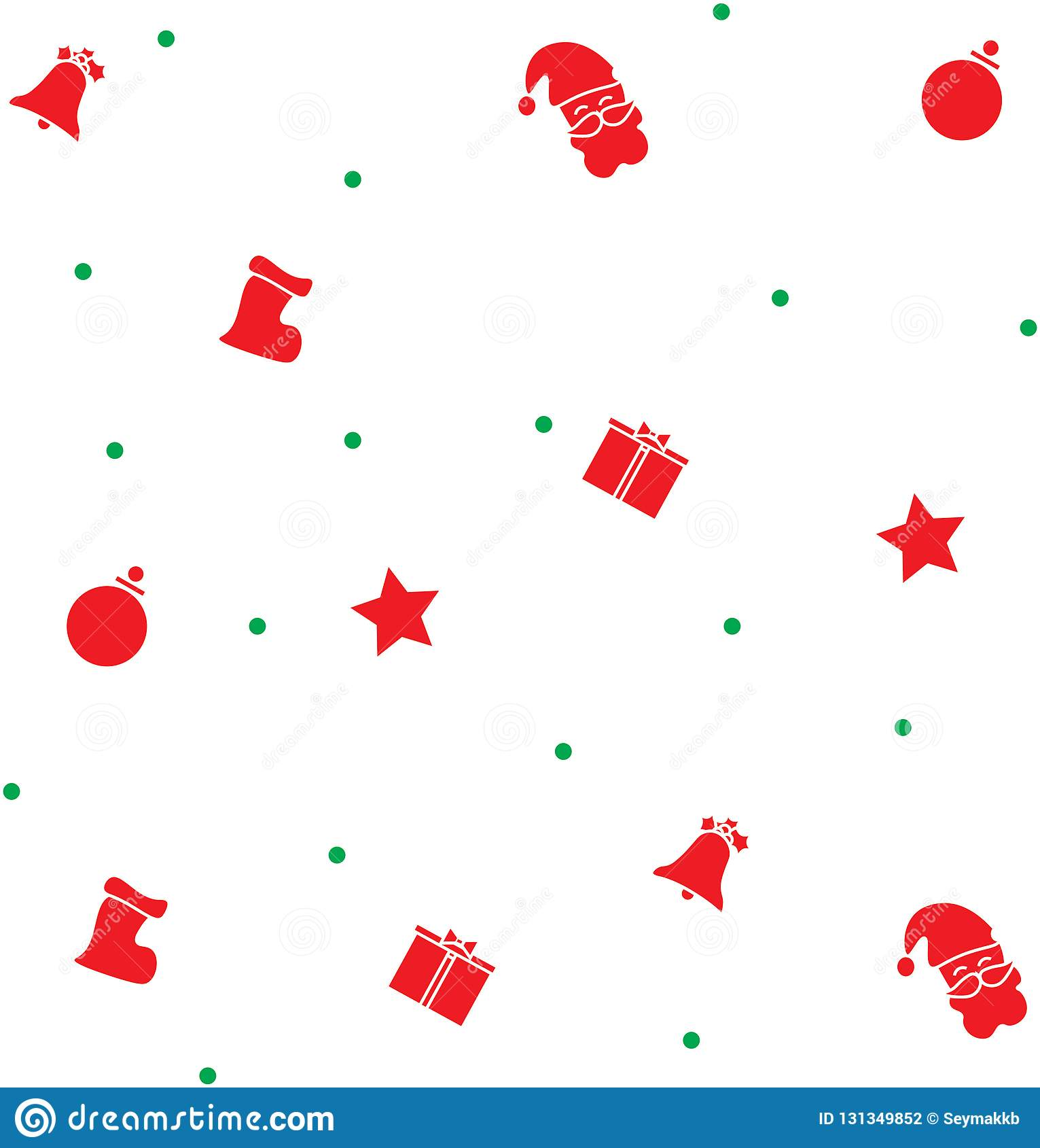 Red and Green Color Christmas Graphic