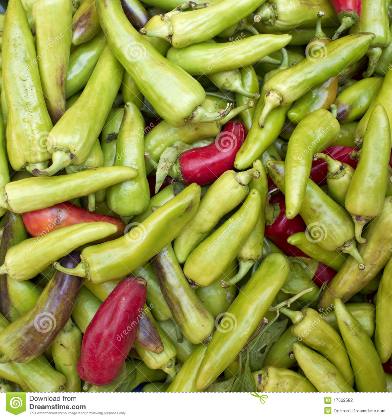 Red And Green Corn Peppers Stock Photography - Image: 17662582