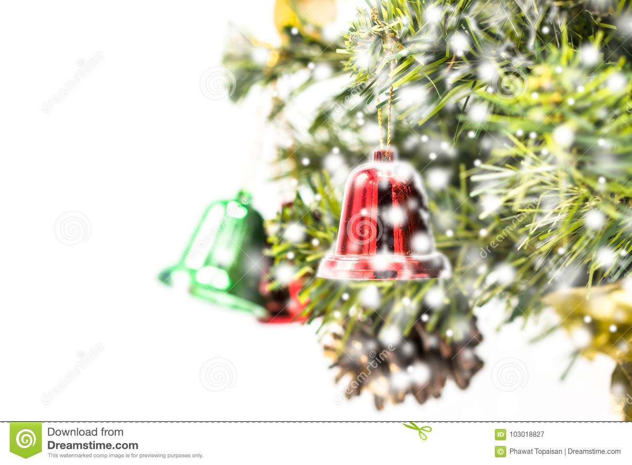 red and green and gold christmas bell decoration hanging - Christmas Bells Decorations