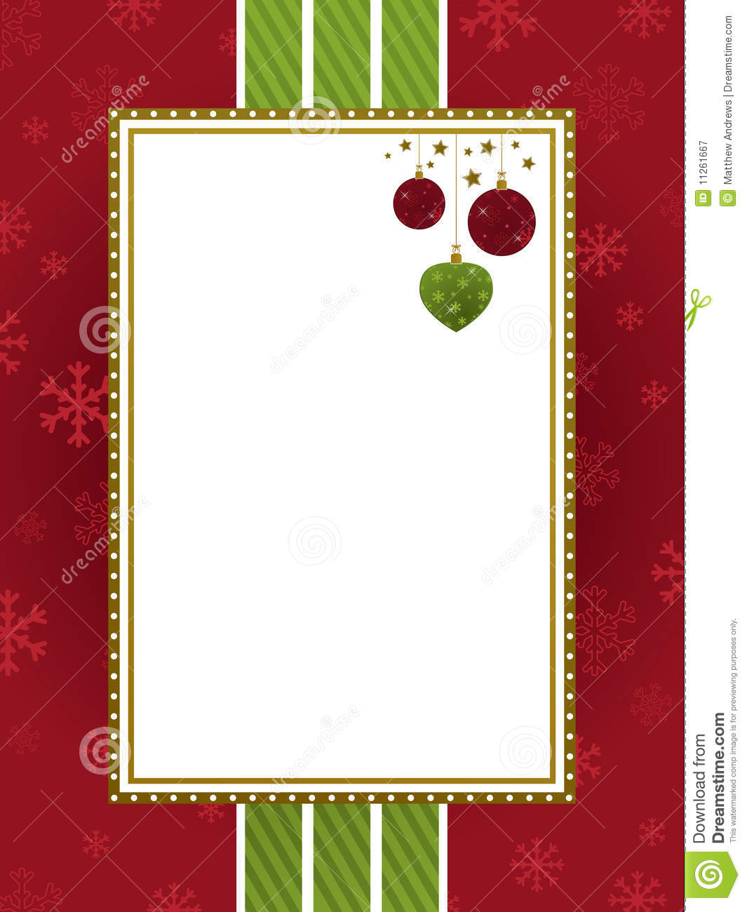 Green Christmas Ribbon Border