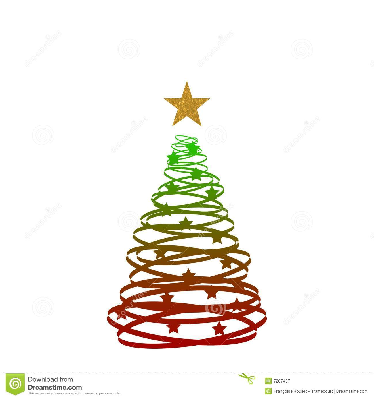 Red green gold christmas tree royalty free stock for Red green and gold christmas tree ideas