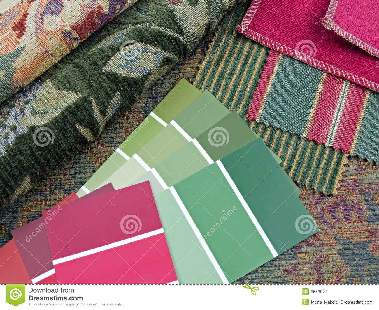 Red and green interior design plan royalty free stock - Red and green interior design ...