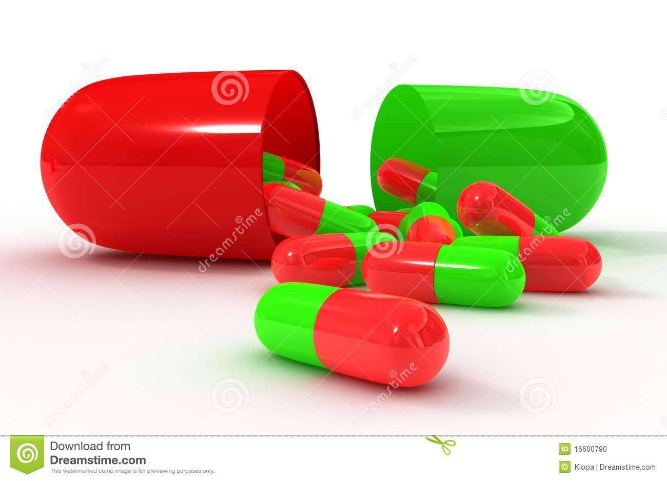 Red Green Open Pill Capsule Stock Illustration - Image ...