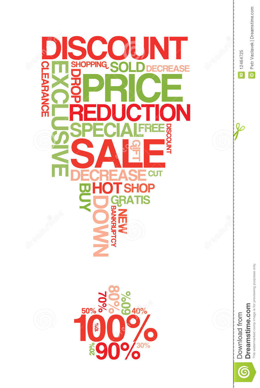 Red and green sale discount poster royalty free stock for Cheap prints and posters