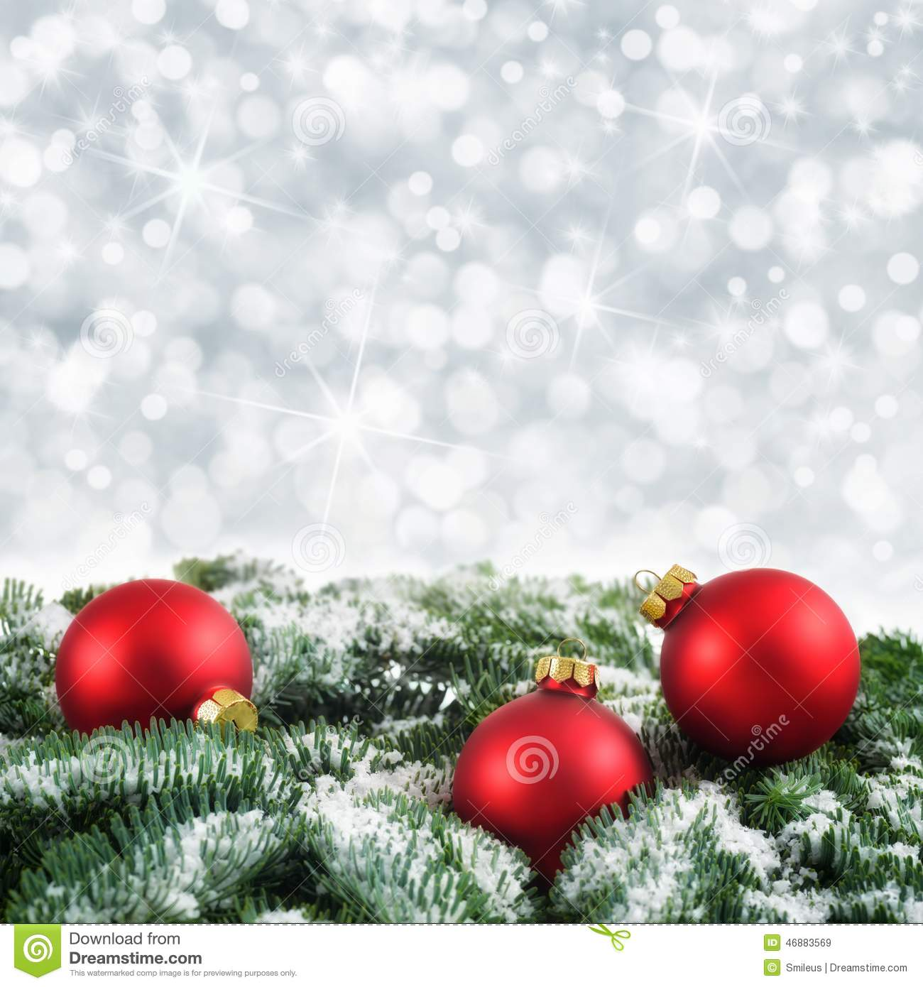 Red, Green And Silver Christmas Background Stock Photo - Image ...