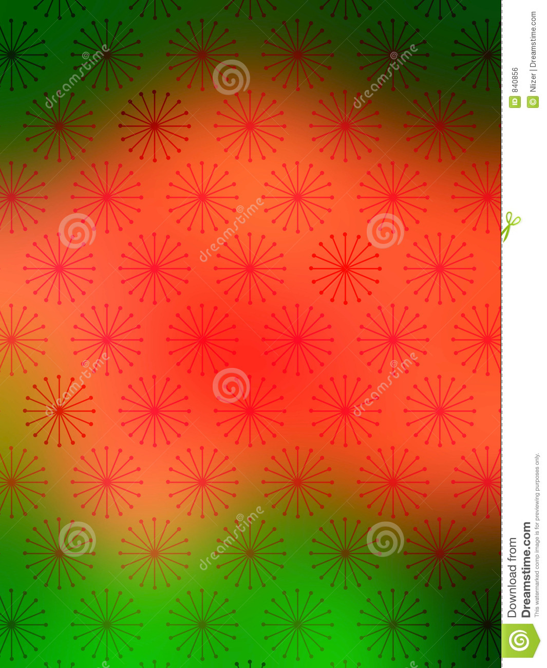 Red Green Snow Flakes wallpaper