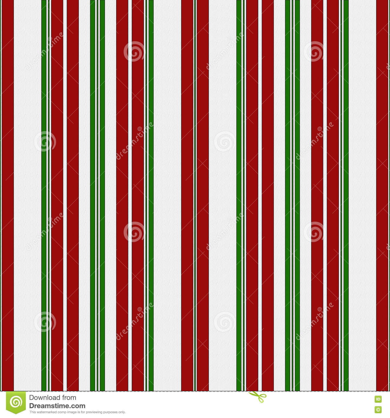 red green and white striped fabric background stock