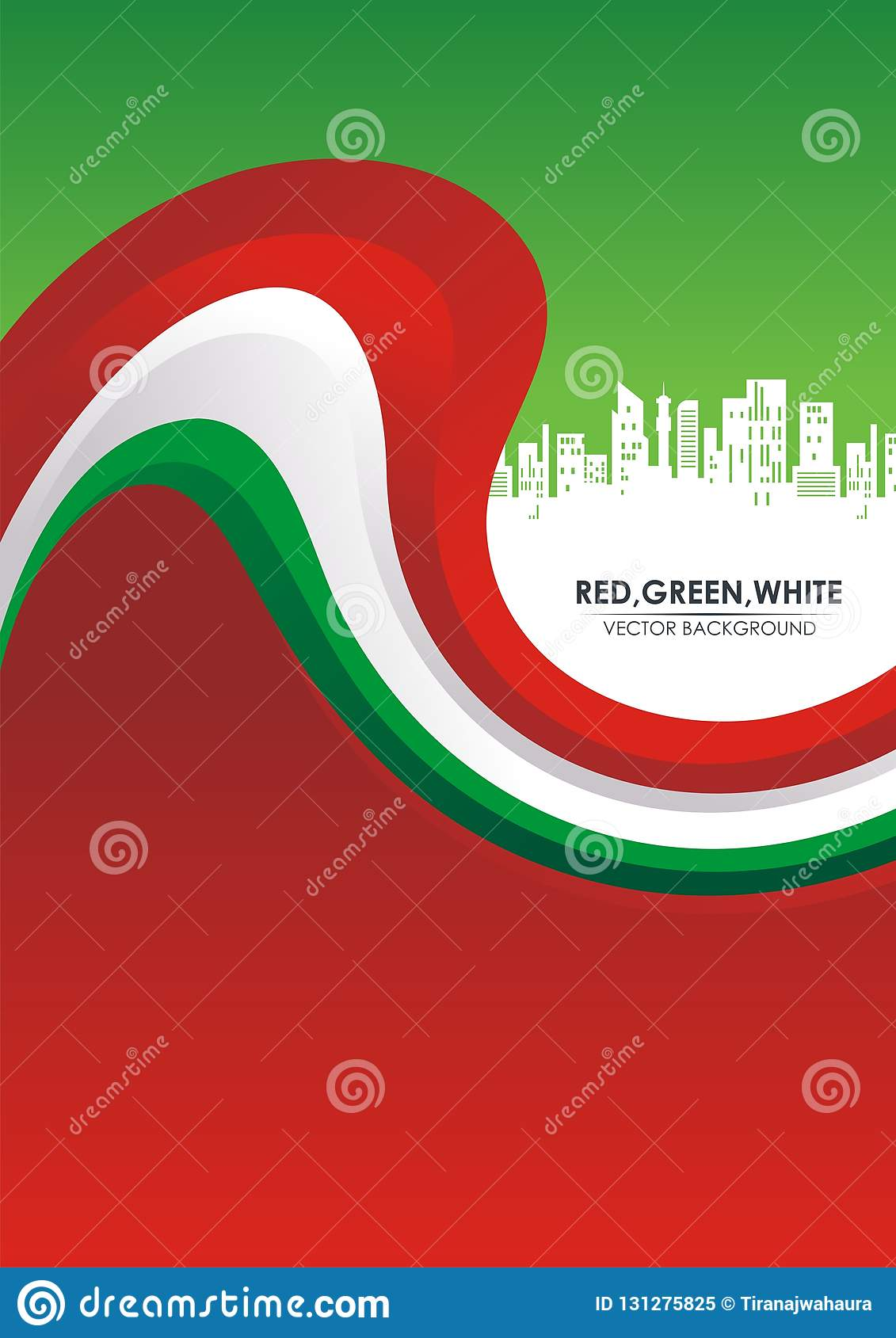 Red, Green, And White Stylish Abstract Background Stock ...