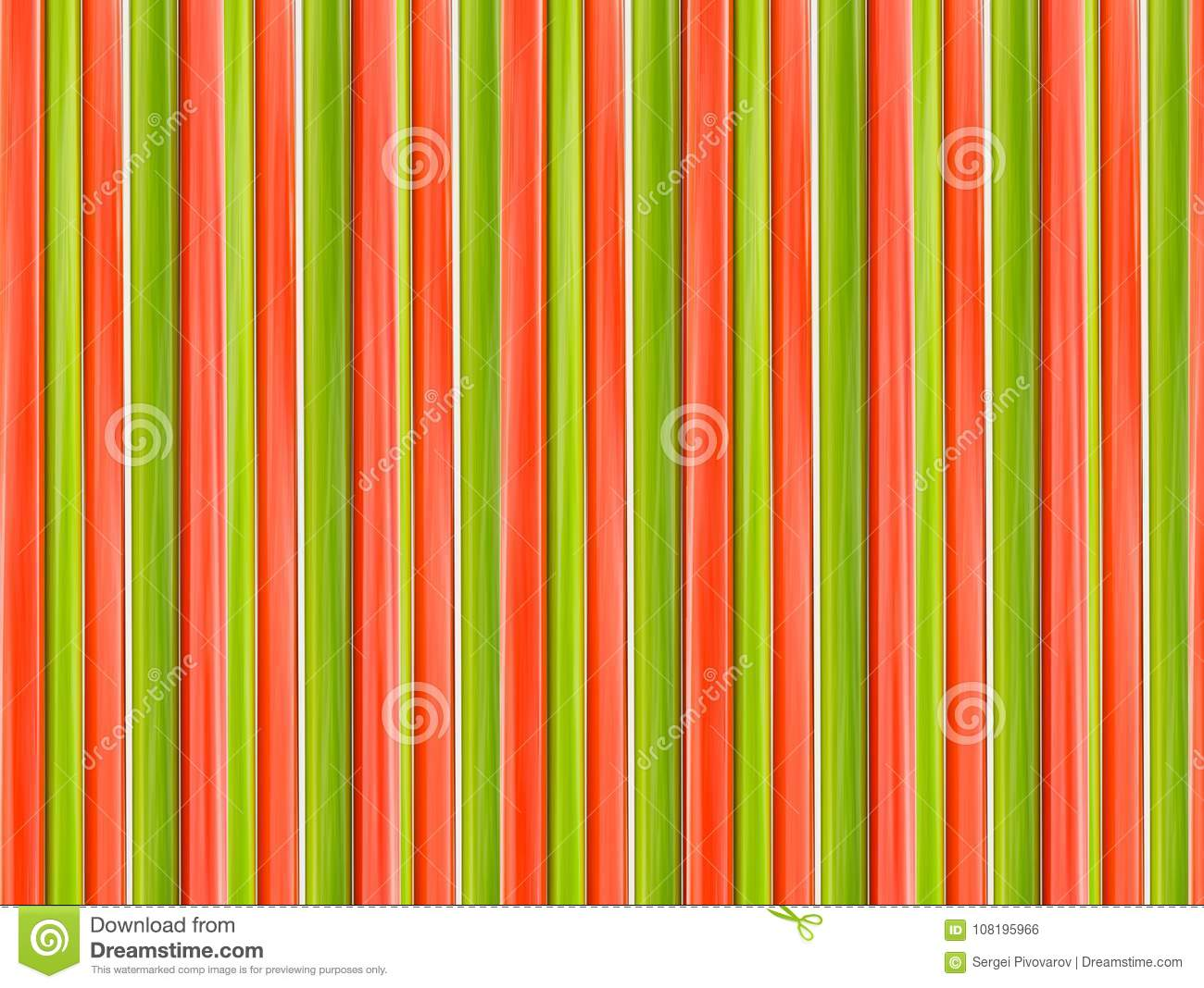 Red green wooden texture vertical lines abstract background symmetrical