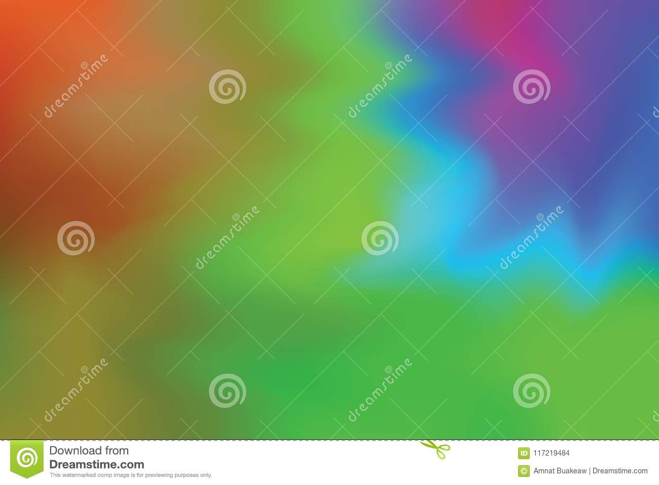 Red Green Yellow Blue Soft Color Mixed Background Painting Art