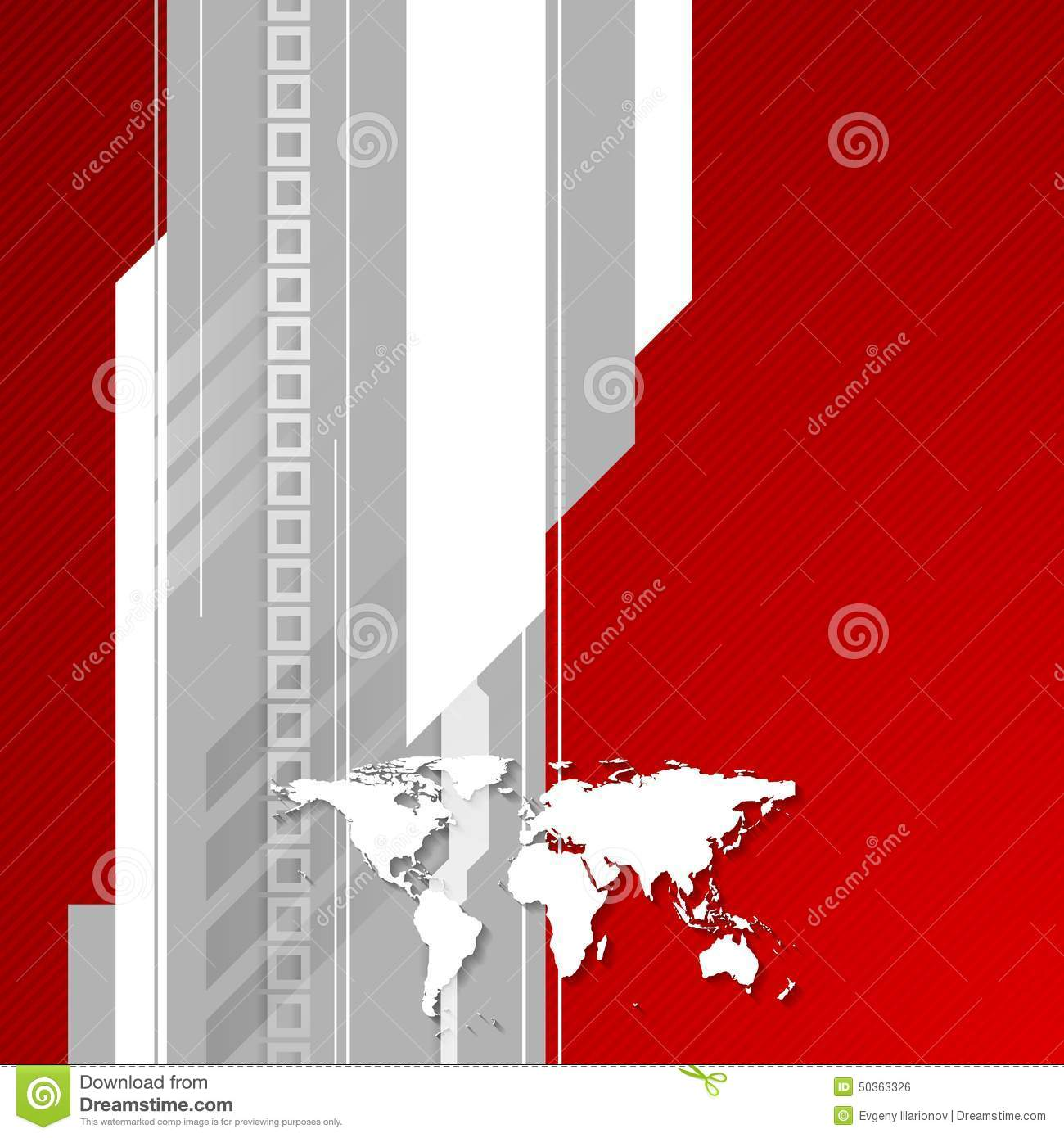 Red and grey technology background with world map stock vector download red and grey technology background with world map stock vector illustration of line gumiabroncs Images