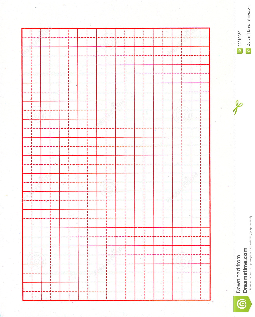 Red grid paper stock photo image 22810950