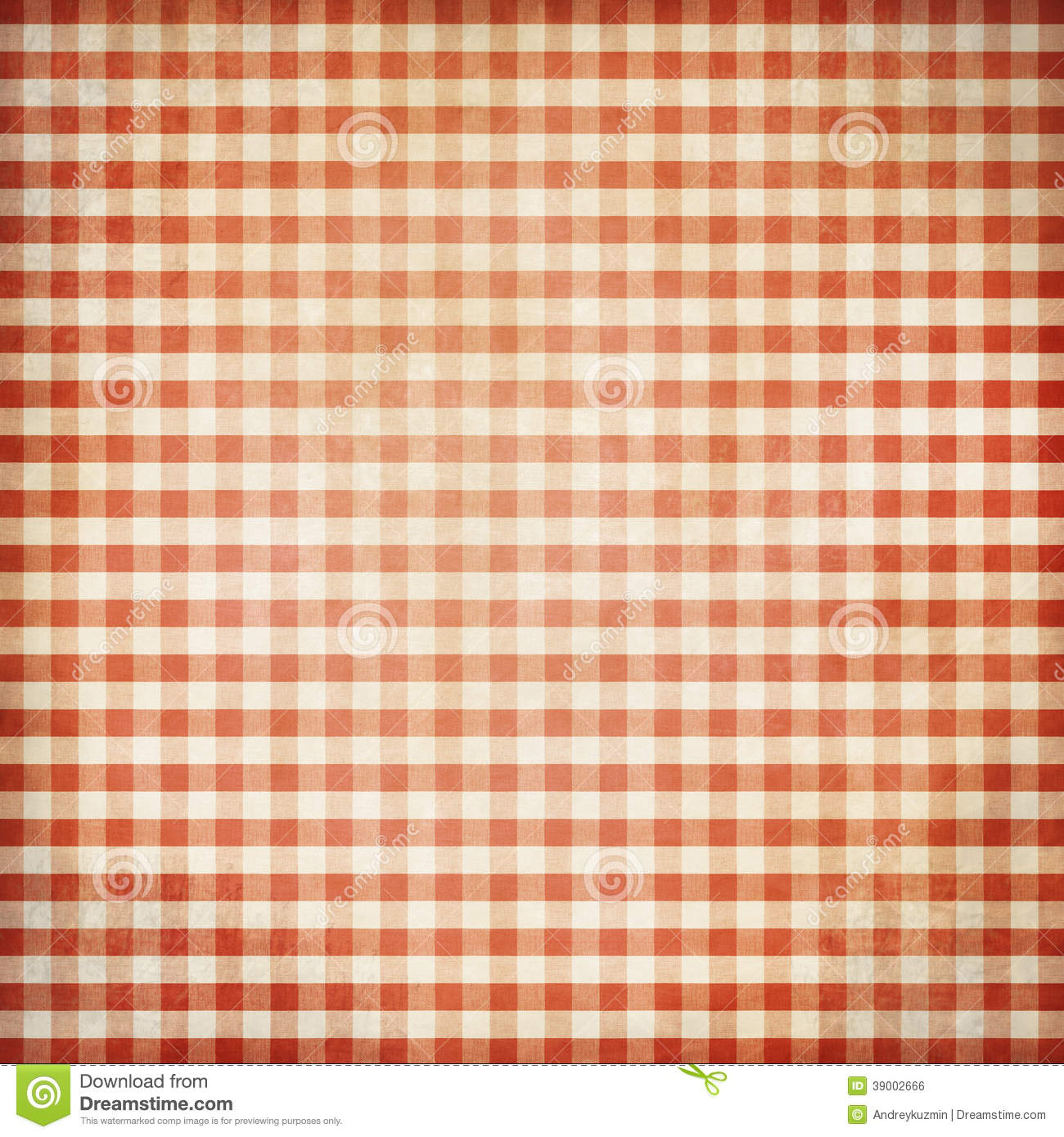 Red Grunge Picnic Tablecloth Background Stock Photo