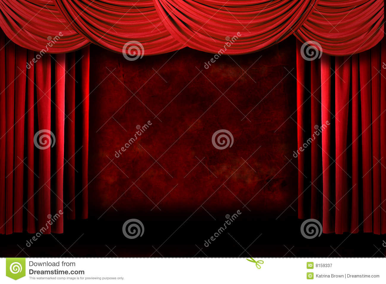 Stock photo dramatic red old fashioned elegant theater stage stock - Royalty Free Stock Photo Dramatic Drapes Stage Theater Culture Orchestra Announcement Arts Elegant
