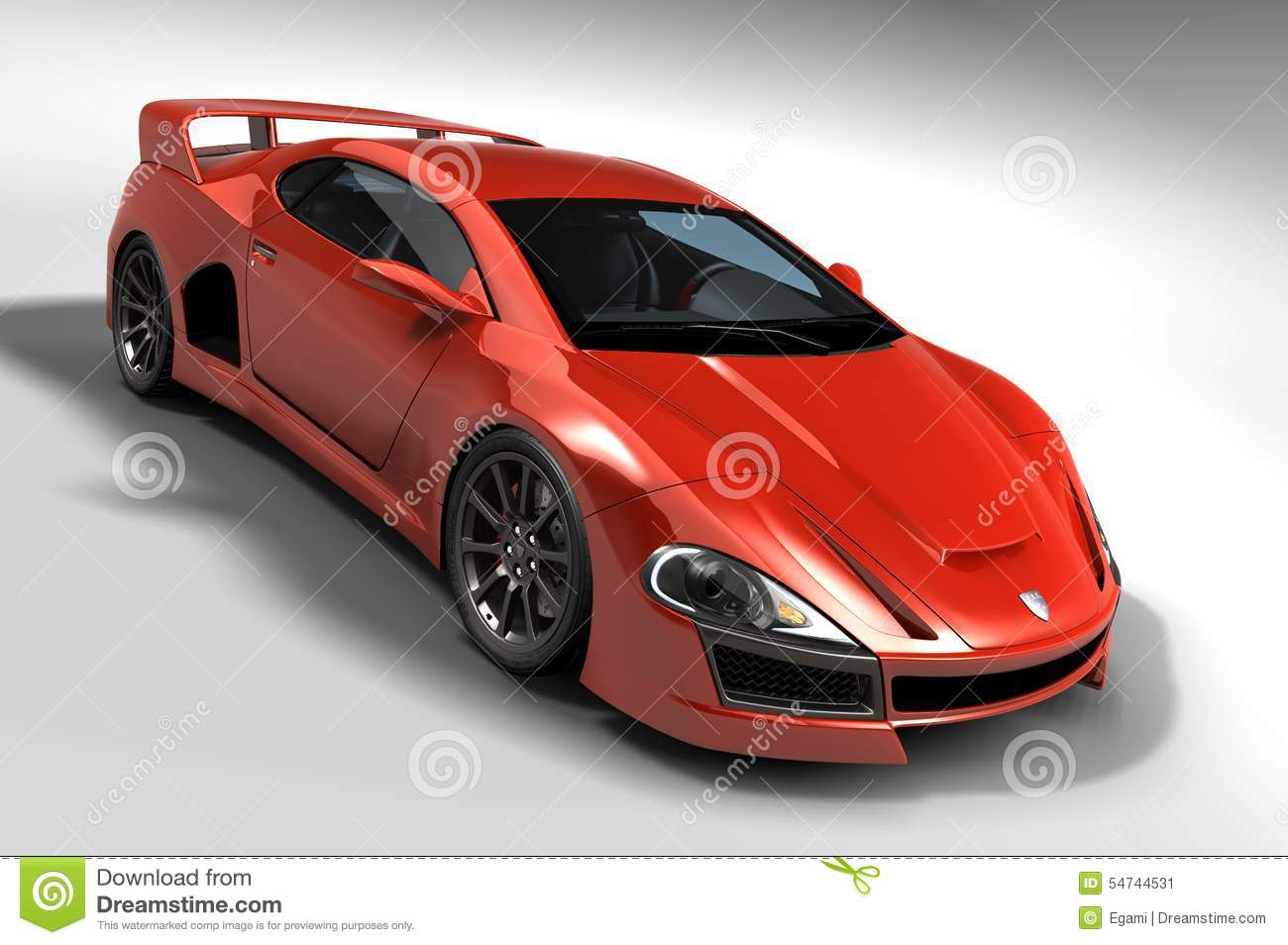 red gt car stock illustration image 54744531. Black Bedroom Furniture Sets. Home Design Ideas