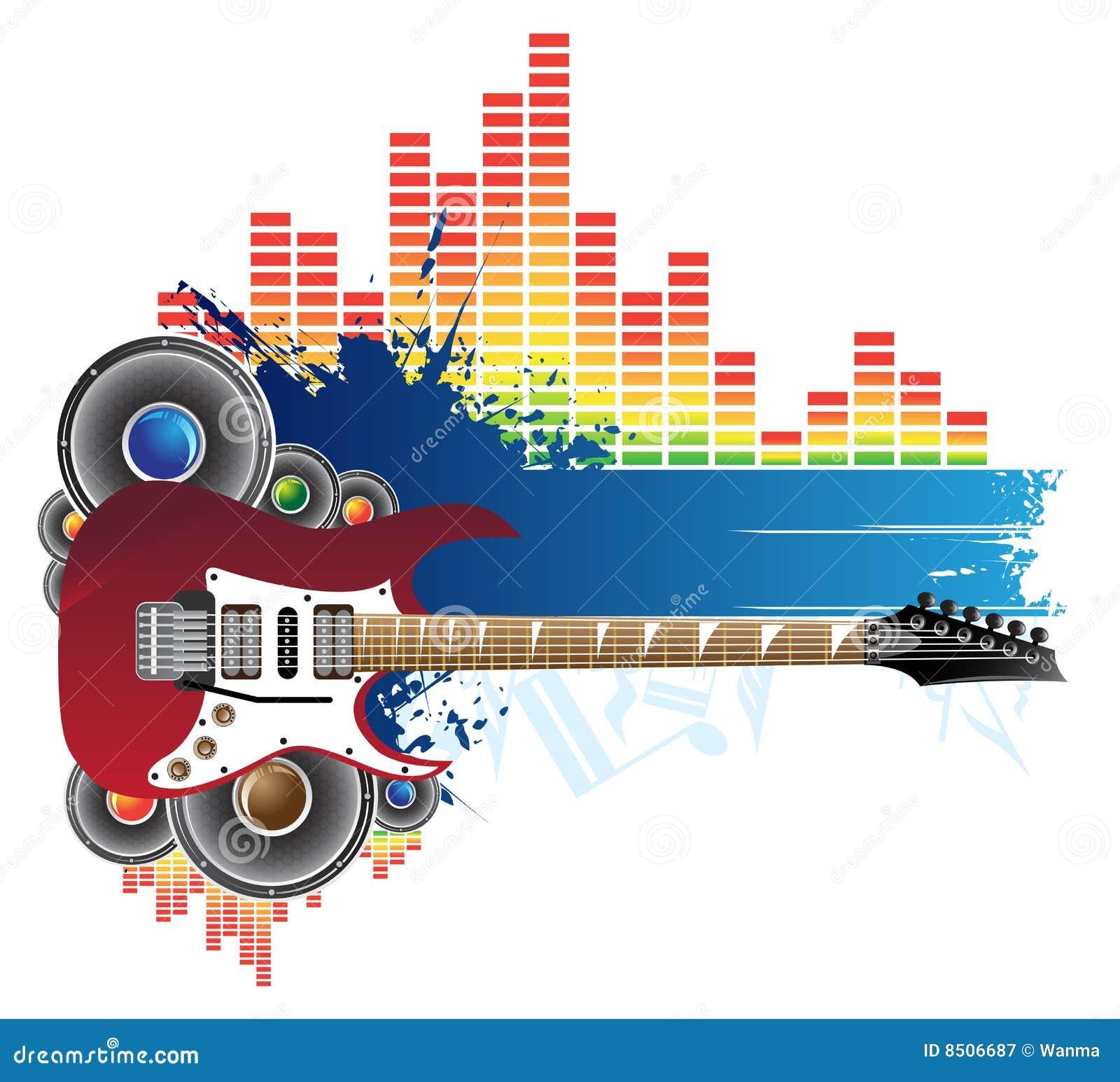 Red Guitar, Blu... Free Guitar Clipart