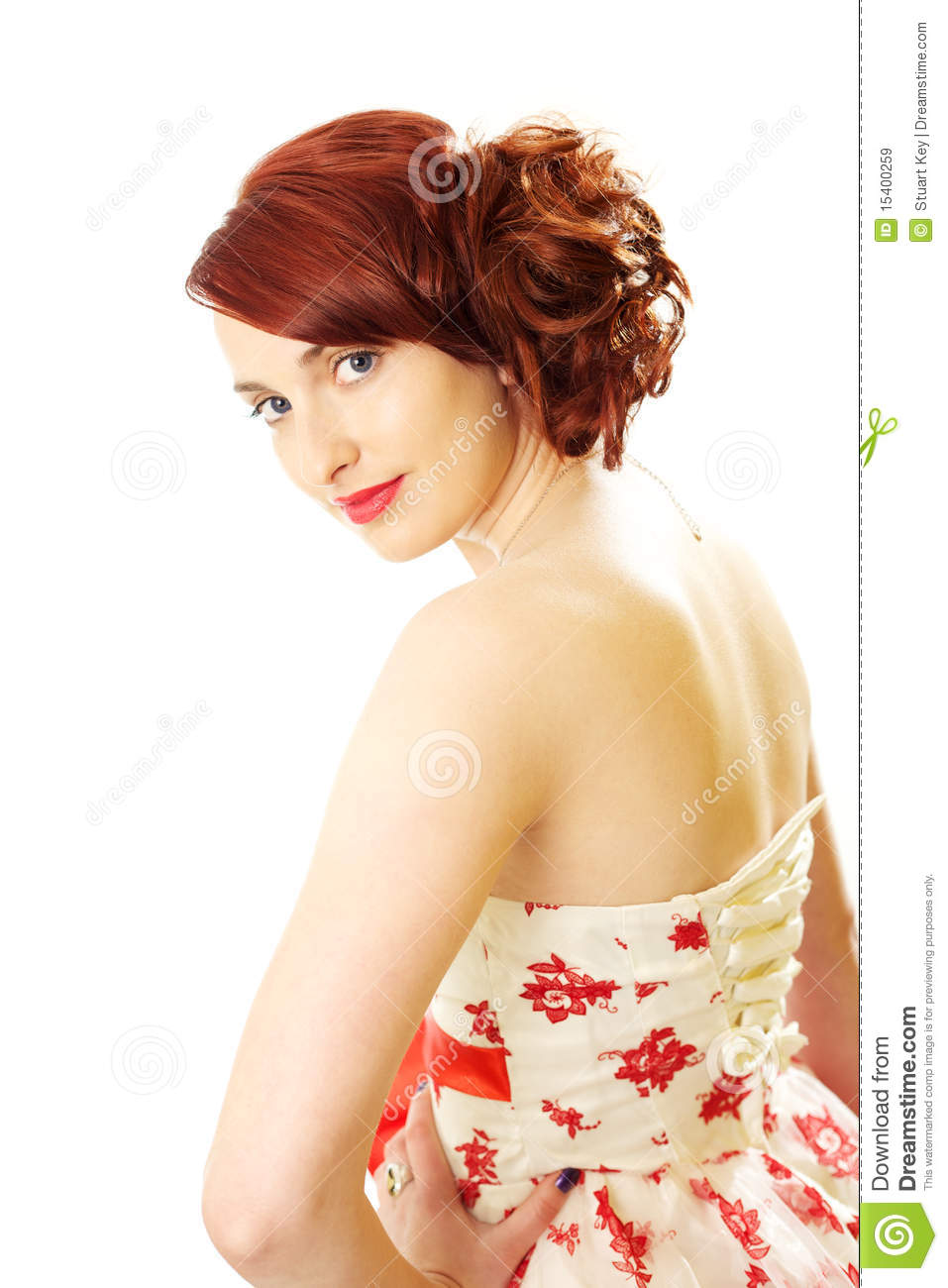 Red Hair Beauty 50s Style Stock Image Image Of Glamorous 15400259