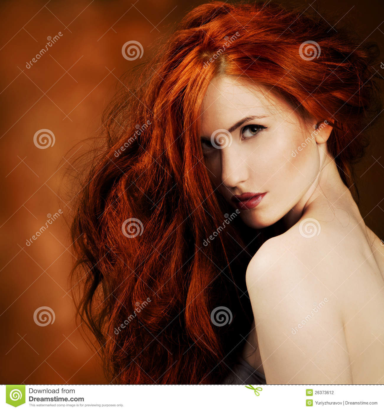 Red Hair Fashion Girl Portrait Stock Photography Image