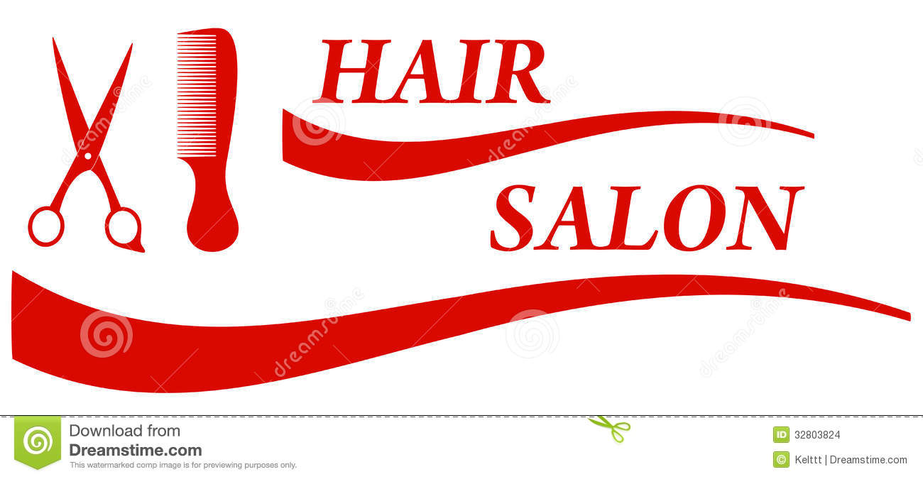 Red Hair Salon Symbol Stock Images Image 32803824