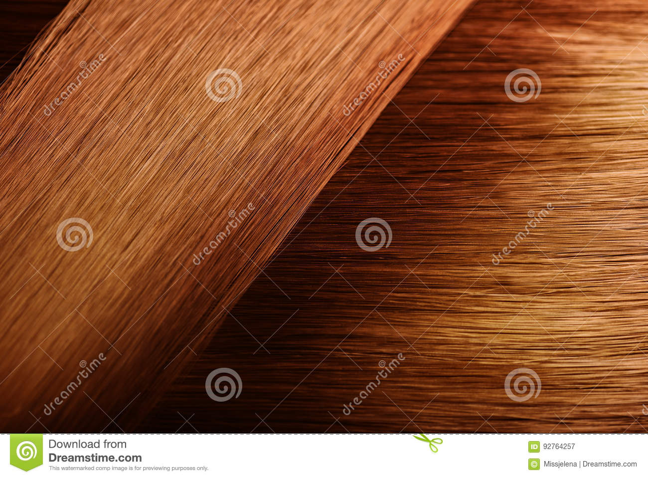 Red Hair Sample Swatch Stock Image Image Of Coloring 92764257