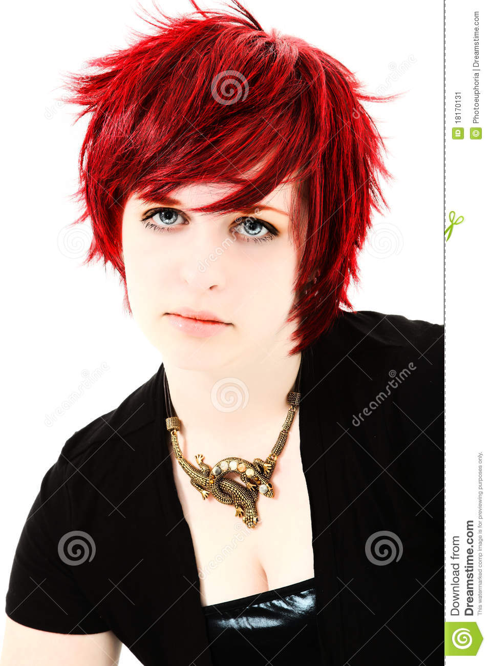With you Young girl with red hair