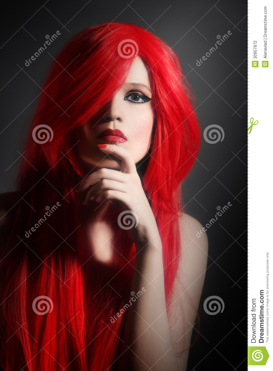 Red Hair Woman Hairstyle Portrait Stock Photography Image 30957872