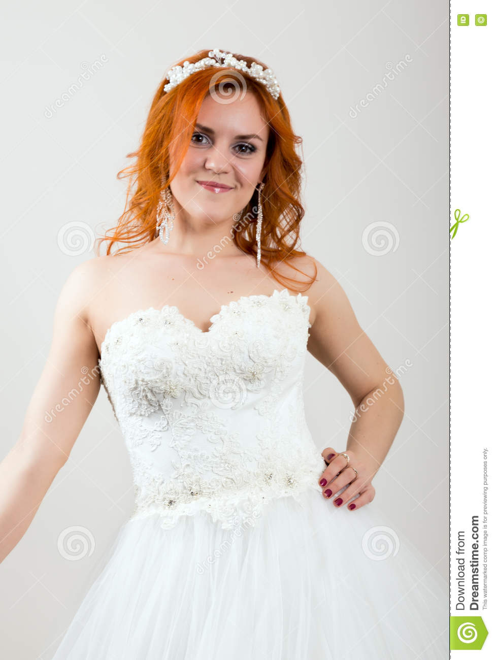 Red-haired Bride In A Wedding Dress, Bright Unusual Appearance ...