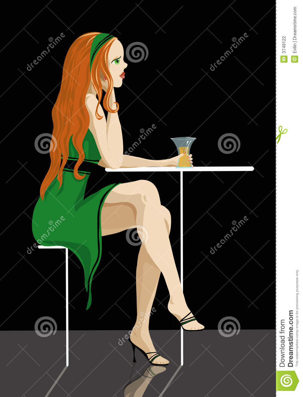 Red-Haired Lady