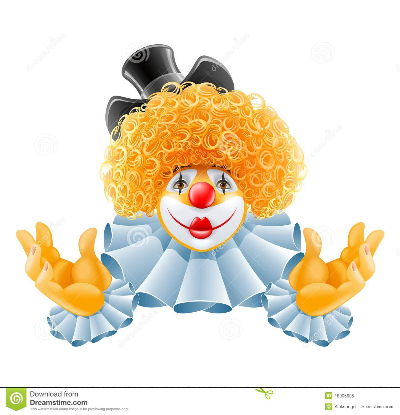 Red-haired Smiling Clown Royalty Free Stock Photo - Image ...
