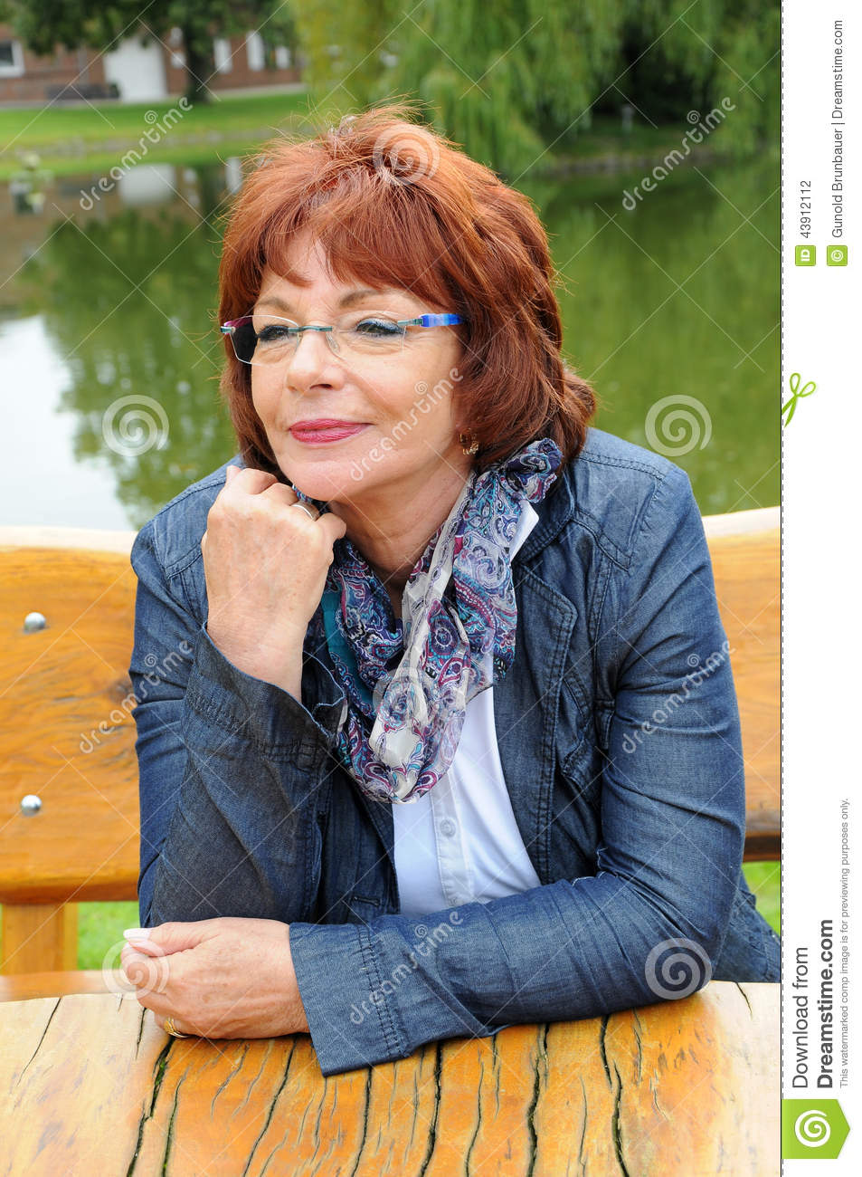 Good looking red haired woman