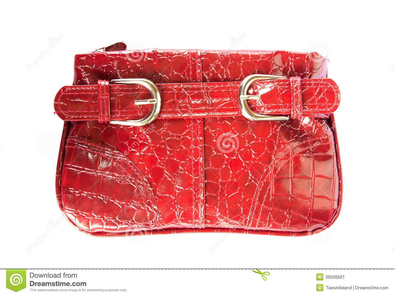 Red handbag for woman