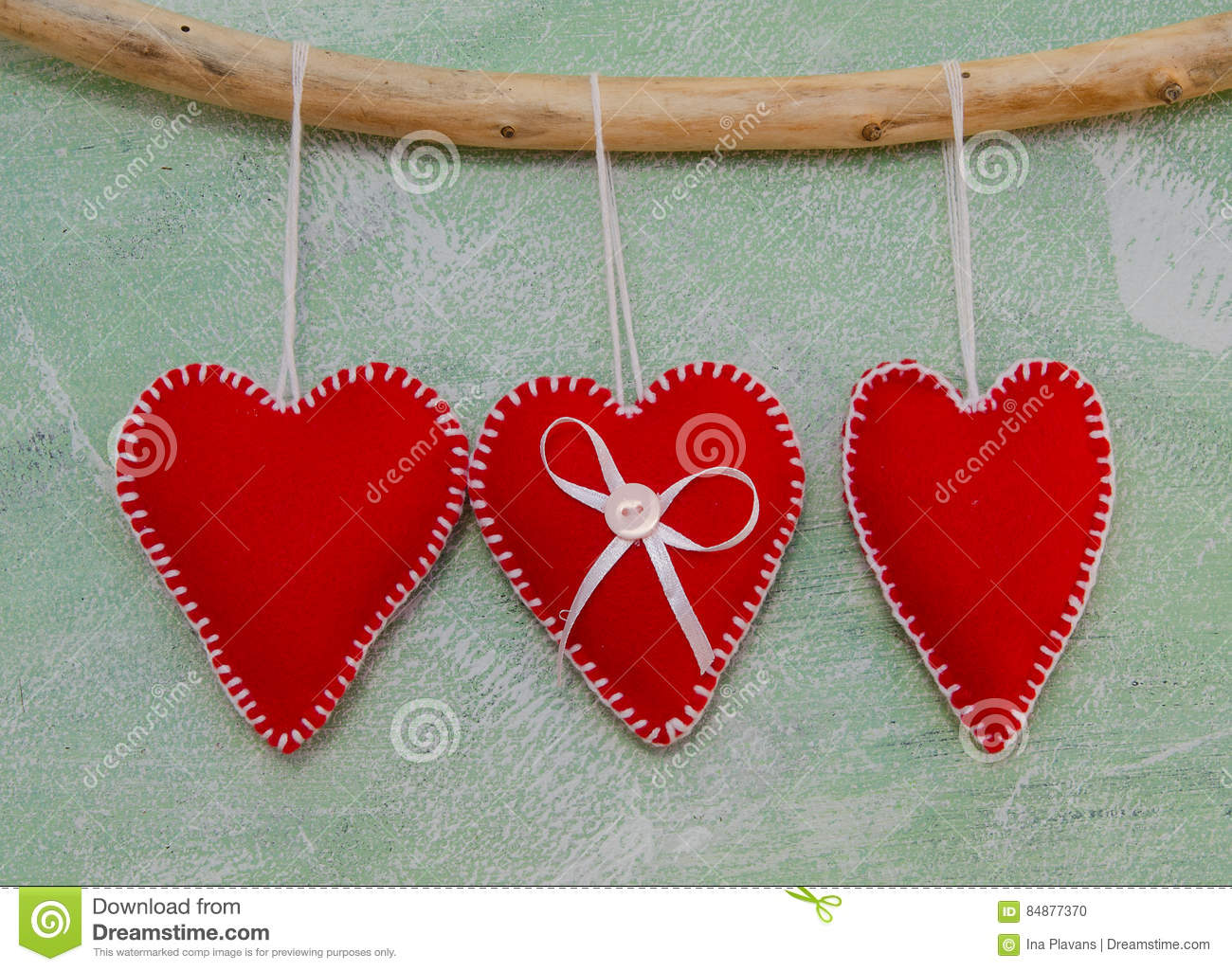 Red Handmade Hearts On Craft Background Holiday Wallpaper Love St Valentines