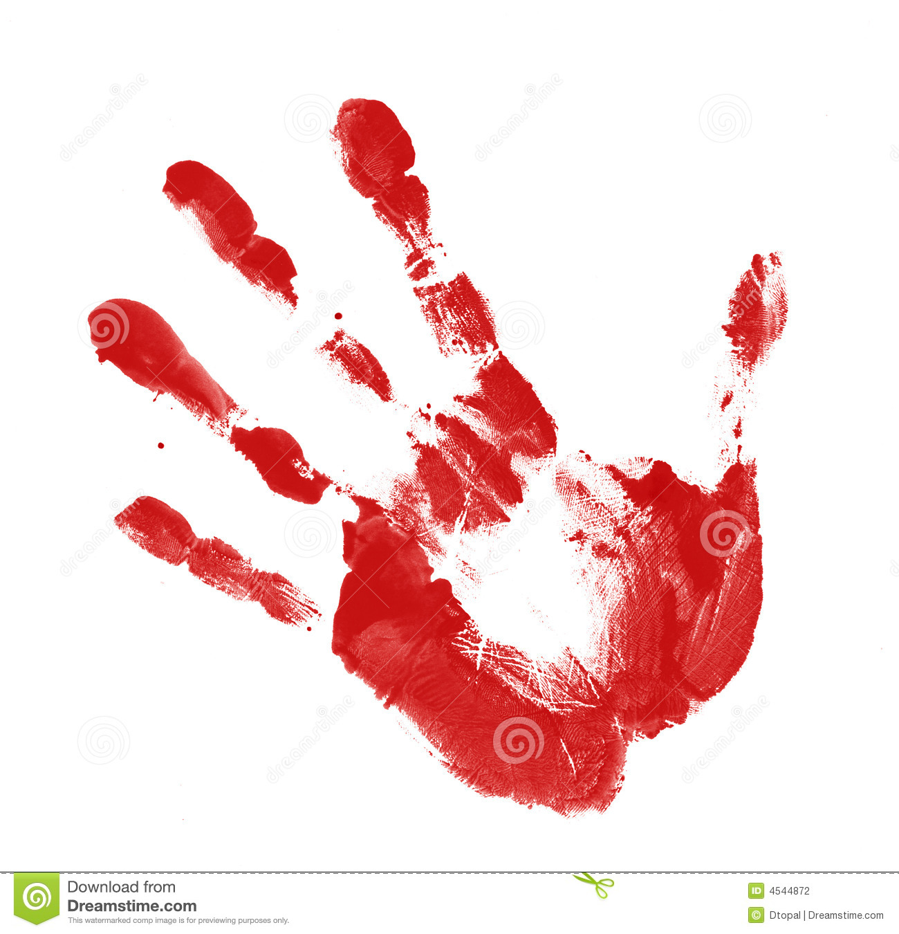 Red Handprint Stock Photography - Image: 4544872