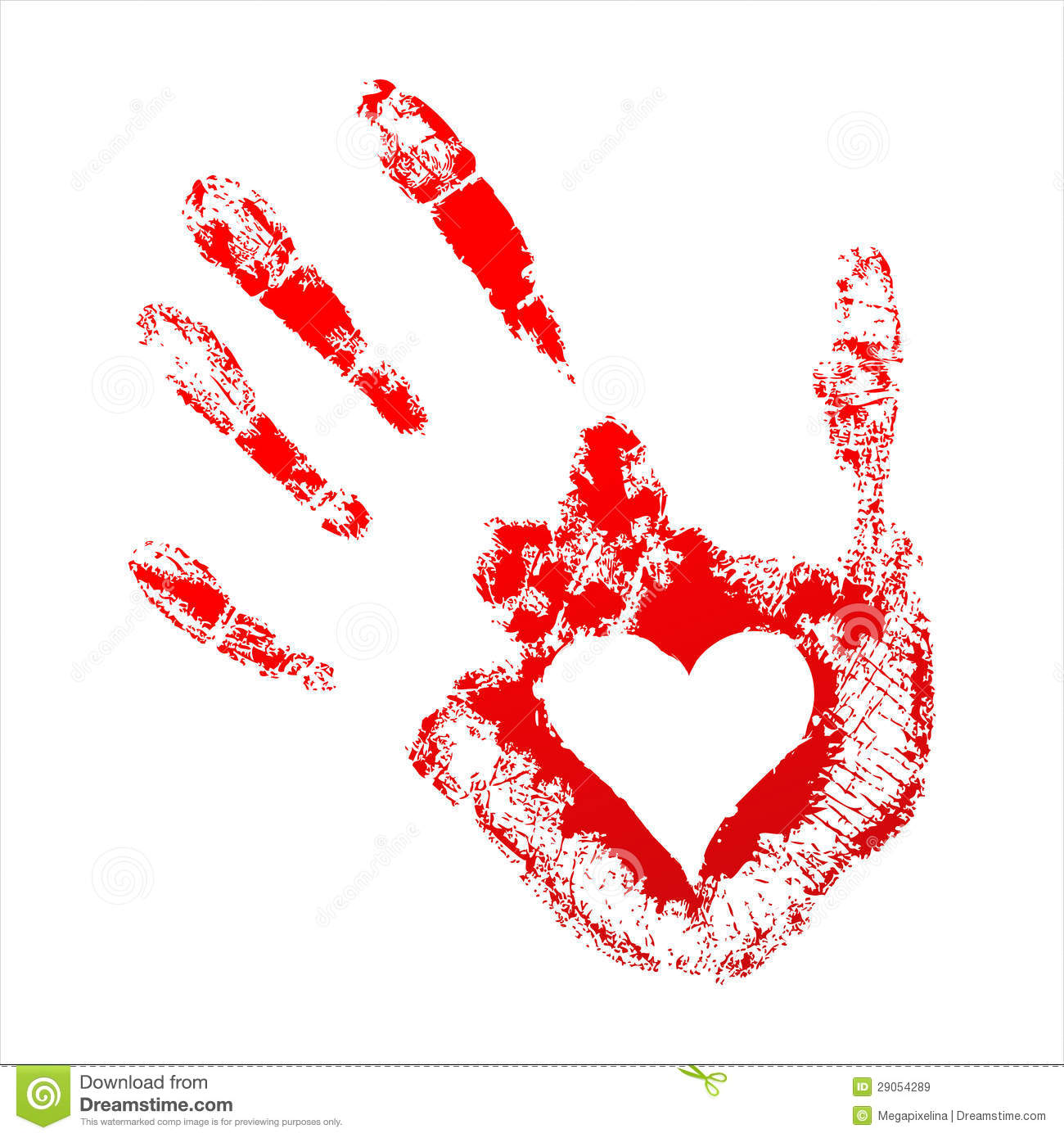 red handprint with a heart inside royalty free stock Handprint Template Baby Handprint Clip Art Free