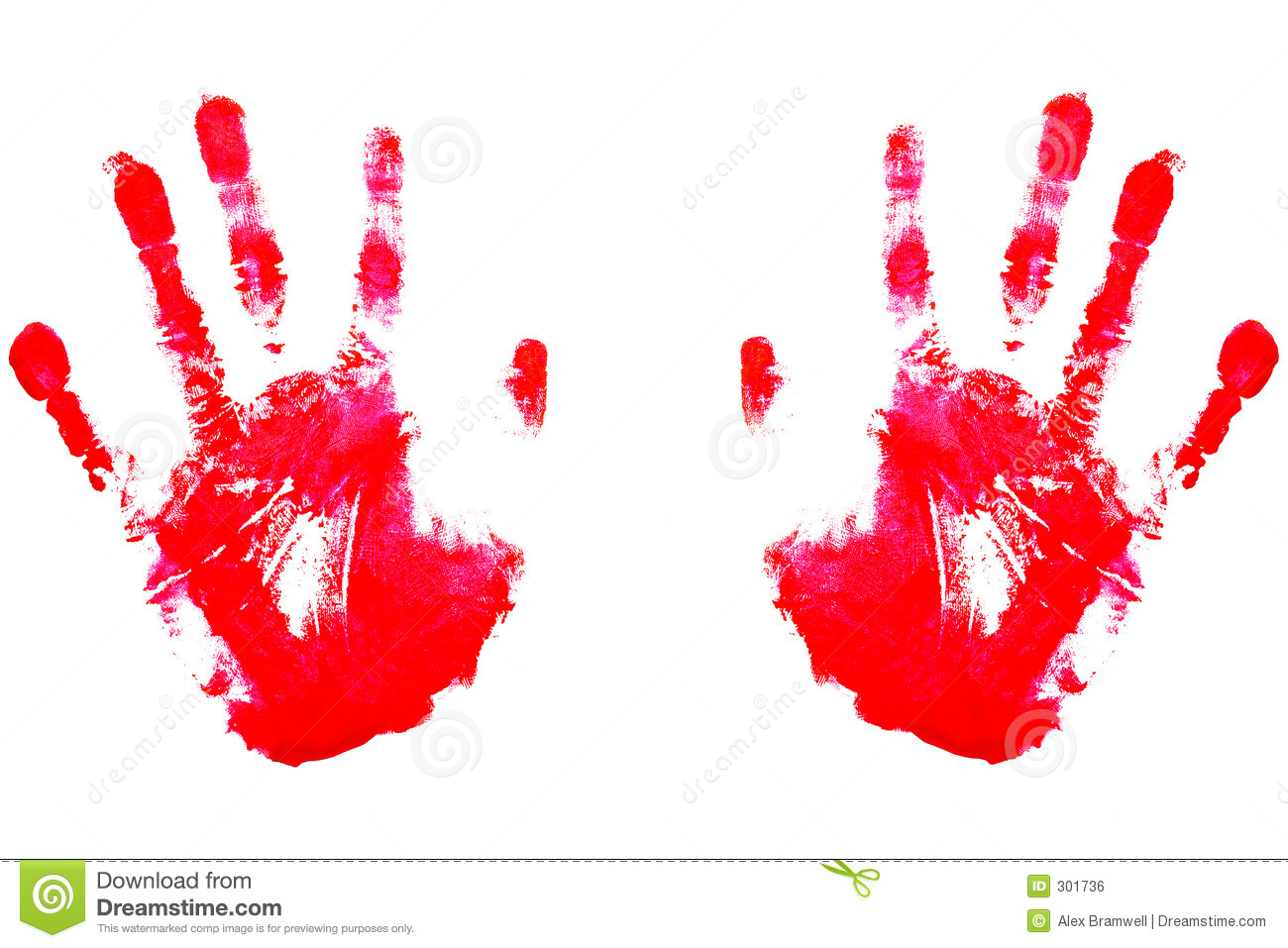 Red Handprints Royalty Free Stock Image Image 301736