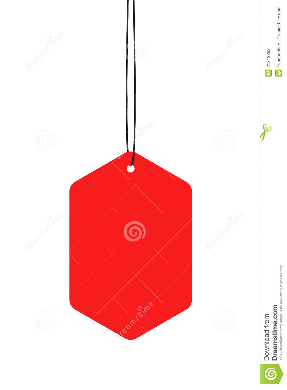Red Hanging Tags Stock Photography - Image: 21219292