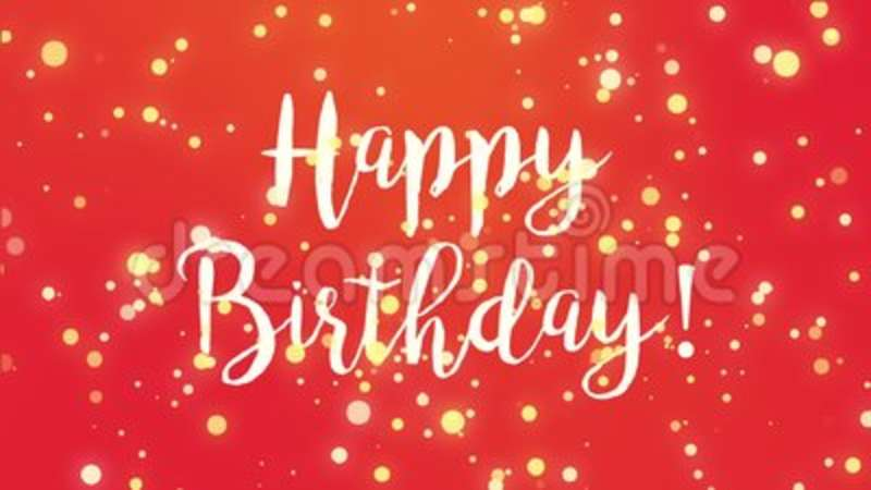 Red Happy Birthday Greeting Card Video Stock Footage Video Of
