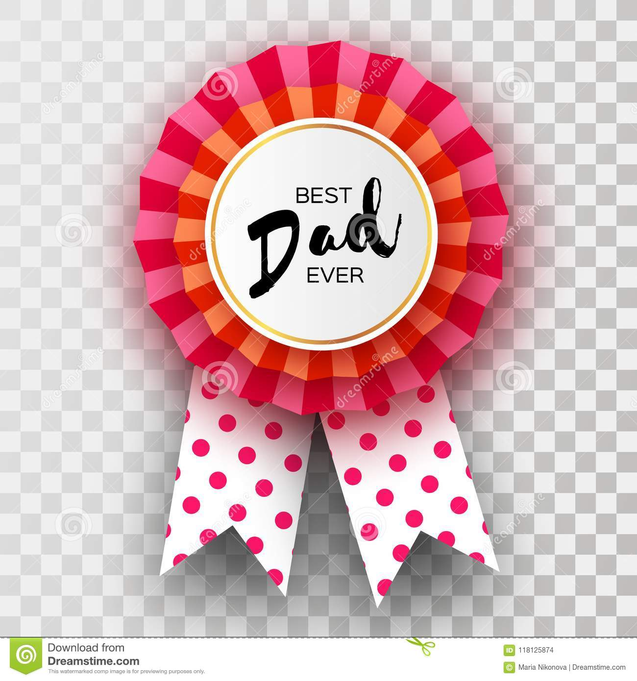 Red happy fathers day greetings card best dad ever badge award in download red happy fathers day greetings card best dad ever badge award in paper cut m4hsunfo