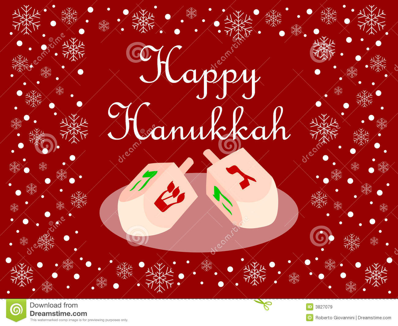 Red Happy Hanukkah Card Royalty Free Stock Images - Image ...